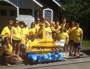 Annual 4th of July children's parade - yellow submarine